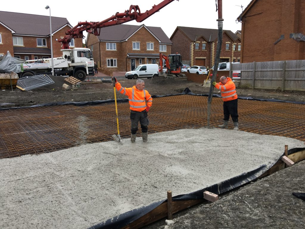 Maxiom Plot 35 Pouring Concrete